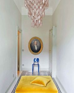 yellow velvet and what it seems the Clay Chair by Maarten Baas