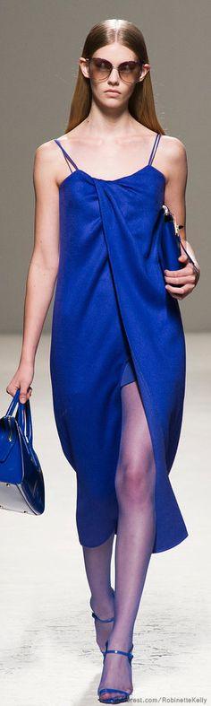 Max Mara | S/S 2014#aiowedding - http://www.aiowedding.com/wedding-dresses/george-bride-charmig-lace-over-satin-with-beaded-waist