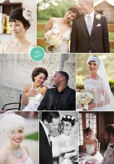 Hairstyles for Pixie Brides. #shorthairbride short hair bride, bride hair styles for short hair