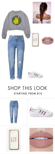 """That's all"" by juliat16 ❤ liked on Polyvore featuring Kate Spade, WithChic, adidas and Missguided"