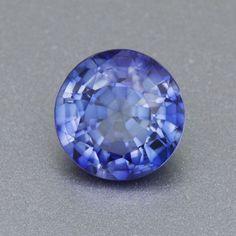 7mm Brilliant Round Periwinkle Blue Lab Created Sapphire | Rare Montana Yogo Color | 1.72 Carat Premium AAAA Quality Loose Stone
