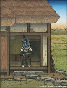I mentioned the other day how the great Toriyama Sekien was a big fan of inventing yokai that poked fun at the red-light districts and the priest class of his Japanese Mythology, Japanese Folklore, Japanese Yokai, Japanese Art, Medieval Fantasy, North Africa, Conte, Fantasy Creatures, Asian Art