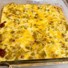 Taco Chile Relleno Casserole Low Carb, high protein, keto diet, sub almond milk & coconut flour High Protein Low Carb, High Protein Recipes, Low Carb Recipes, Beef Recipes, Cooking Recipes, Atkins Recipes, High Protien, Diabetic Recipes, Skillet Recipes
