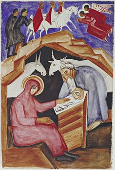 The Nativity for Liturgy | Natalia Goncharova (Russian, 1881–1962)