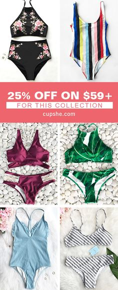 25% OFF ON $59+ Eye-catching prints, various styles, fabulous details and comfortable feelings. these are reasons to be your faves! Highlight your beauty every time walking on the beach~ Free shipping & Check them out!