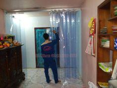Màn nhựa pvc màu xanh dương ngăn lạnh điều hòa, ngăn côn trùng, lắp đặt cửa thông phòng, cửa đi lại: