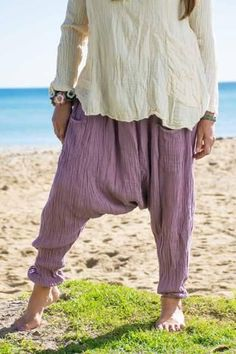 Earth Gypsy Yoga Pants. These comfy yoga pants are so soft and scrunchy you won't want to take  them off. We call them boggers in Australia because of the low inseam,  reminiscent of MC Hammer days with an updated twist.They are perfect  for playful romps,fantastic adventures, and hanging out at home. Boho beach style by Sea Gypsy with a laagenlook twist. See more at www.seagypsy.com.au