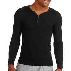 e899c3d477fff Fruit of the Loom Men s Classics Midweight Waffle Thermal Henley Top at Amazon  Men s Clothing store