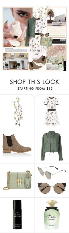 """""""Sweet Disposition: Hello Spring"""" by sanfranfashion101 ❤ liked on Polyvore featuring Pier 1 Imports, Valentino, Barneys New York, Faith Connexion, Fendi, Liberty, Dolce&Gabbana, Spring, Dolce and valentino"""