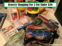 Grocery Shopping For 2 For Under $30 --A Writer Cooks. View the post at http://www.awritercooks.com/grocery-haul-and-meal-plan-april-10/