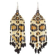Hand Beaded Jaguar Earrings (Guatemala) - Free Shipping On Orders Over $45 - Overstock.com - 16793502 - Mobile