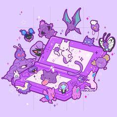 Favorite Pokémon from this Purple Cute Pokemon Wallpaper, Kawaii Wallpaper, Pokemon Memes, My Pokemon, Star Citizen, Game Character, Character Design, Anime Manga, Anime Art