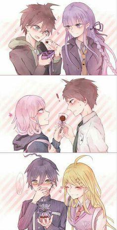 Characters I really ship in Danganronpa >w< Super Danganronpa, Danganronpa Memes, Nanami Chiaki, Makoto Naegi, Kamigami No Asobi, Nagito Komaeda, Trigger Happy Havoc, Satsuriku No Tenshi, Doja Cat