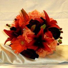 Orange and burgundy flower