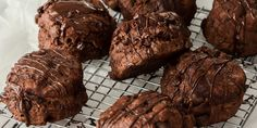 How about these Chocolate Scones for a slightly more indulgent breakfast or morning tea treat. Slightly sweet and topped with melted chocolate, these easy scones will melt in your mouth. Baked Breakfast Recipes, Breakfast Bake, Best Peanut Butter, Creamy Peanut Butter, Cookie Desserts, Easy Desserts, Scones, Cherry Compote, Homemade Donuts
