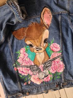 Disney Bambi hand painted denim jacket