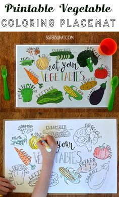 this free printable vegetable place mat is perfect for dinner time. #printables #printableplacemat Vegetable Coloring Pages, Free Coloring Pages, Printable Coloring Pages, Printable Art, Free Printables, Frozen Green Beans, Mac And Cheese Homemade, Different Types Of Vegetables, Green Bean Recipes