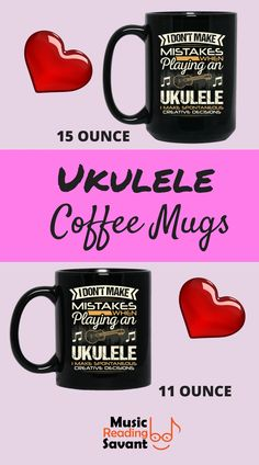 Ukulele coffee mug f