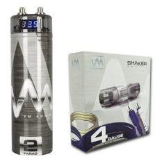 boss cap4c 4 farad capacitor chrome by boss 42 15 4 farad vm audio srsk4b 4 gauge ga car amplifier amp wiring kit 2 farad power capacitor has