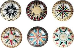 Compass Glass Magnets