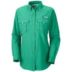 Columbia Sportswear PFG Bahama Shirt - UPF 30, Long Sleeve (For Women) in Glaze Green
