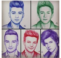 one direction desenho One Direction Fan Art, One Direction Drawings, One Direction Imagines, One Direction Humor, One Direction Pictures, Art Drawings Sketches, Cartoon Drawings, People Drawings, Desenhos One Direction