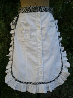 ...is now the apron around her waist. My friend, Jackie, and I ran across a darlingapron ideain a magazine last week,repurposed from a...