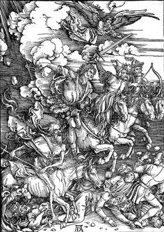 Die vier apokalyptischen Reiter door Albrecht Dürer