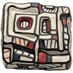 For Sale on - Great sculpture,Jean Dubuffet 3 colors), Titel Encrier. made by Rosenthal Germany signed on the side. and bottom. This is an Edition Jean Dubuffet, Honda Logo, Germany, Pottery, Ceramics, Sculpture, Colors, Pictures, Furniture