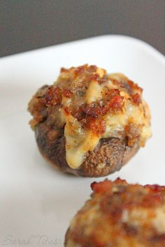These bite size stuffed mushrooms with sausage and Arugula are absolutely delicious. They are perfect for an appetizer at a potluck or get together, and do not take a long time to make.