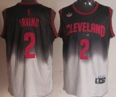 a11680f9c0 Cleveland Cavaliers #2 Kyrie Irving Black/Gray Fadeaway Fashion Jersey  Retro Nba Jerseys,