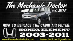This video will show you step by step instructions on how to replace the cabin air filter on a Honda Element Honda Element, Vw Cars, Air Filter, Step By Step Instructions, Filters, Cabin, Cabins, Cottage, Wooden Houses