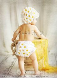 Daisy Child Cap & Bloomers - The Couture Baby