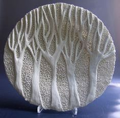 "View Rika Herbst's works featured on Ceramics Now Magazine ""If my work is to speak I want it to whisper. In this my aim is to create unique pieces for contemplation and enjoyment.This would make a great mold for kiln formed glass Rika Herbst Cera Pottery Plates, Slab Pottery, Ceramic Pottery, Ceramic Clay, Ceramic Plates, Porcelain Ceramics, Porcelain Tile, Clay Projects, Clay Crafts"