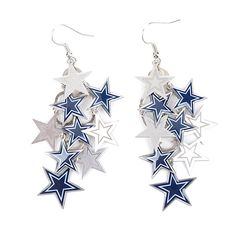 Dallas Cowboys Chandelier Dangler Earring w/ Stars