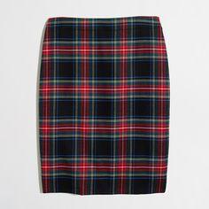 Factory plaid tartan skirt : Wear-To-Work | J.Crew Factory