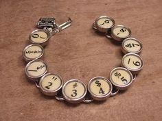 Typewriter Key Jewelry  Authentic Buttery Yellow All by thekeyofa