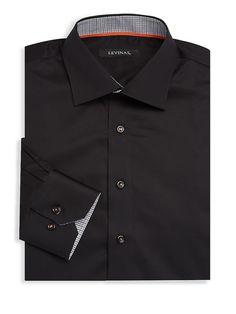 13f4984c26d Levinas Contemporary-Fit Cotton Dress Shirt, #Levinas, #Fit, #Contemporary