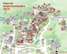 mapa del templo kiyomizudera