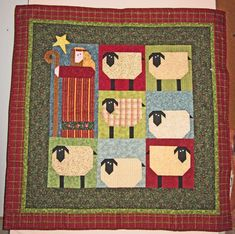 Shepherds abiding over their flocks - cute Christmas quilt