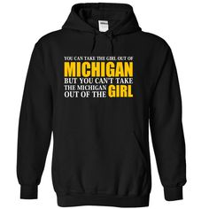 (Top Tshirt Popular) MICHIGAN Girl Anywhere [Hot Discount Today] Hoodies, Funny Tee Shirts