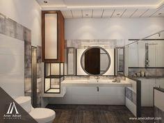 Bathroom Design for a Client Location www.AmerAdnan.com #Architecture #Design #Art #InteriorDesign #Bathroom #Modern #Luxury #Royal #Residential #Home #Architect #Construction #Decoration #Deco #Structural Best Interior Design, Bathroom Interior Design, Construction, Client, Bathroom Designs, Location, Architecture Design, Modern, Mirror