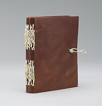 Modern artist's book  Bound using the historic practice/materials