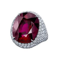 Robert Procop: A rubellite-and-diamond cocktail ring.
