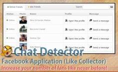Chat Detector for Facebook - with Like Collector