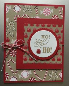 Stampin' Up! Greetings from Santa and Candy Cane Lane Designer Series Paper -  available in the 2016 Holiday catalog