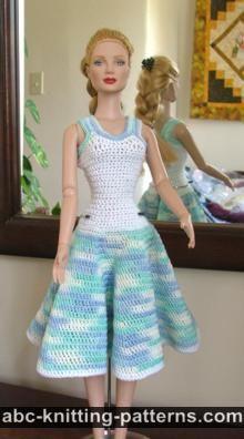 Crochet Summer Dress for Fashion 16 inch Dolls by Robert Tonner