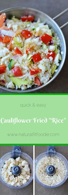 This Cauliflower Fried 'Rice' makes for a great low carb side dish. Easy, healthy and absolutely delicious!