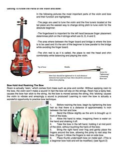 Parts of Violin & Bow Plus Beginning Bow Hold and Rosining http://www.rozannasviolins.com