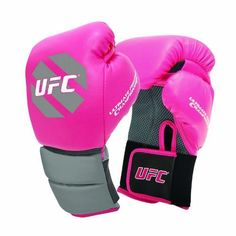 UFC Women's Boxing Gloves, Pink/Gray, 10-Ounce by UFC. $27.93. Strap on the UFC Womens Boxing Gloves - 10 oz. and be ready to take to the ring.Ideal intermediate-level trainerCushioned grip prevents fatigueHook and loop closure ensures secure fitFlomotion palm tes breathabilityManufacturer's warranty included - see Product Guarantee area for detailsAbout Century LLC Century's core belief is that martial arts can profoundly impact people's lives, and they want everyone t...